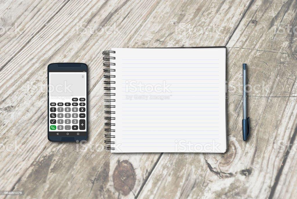 ノートのテーブル - オフィスのロイヤリティフリーストックフォト