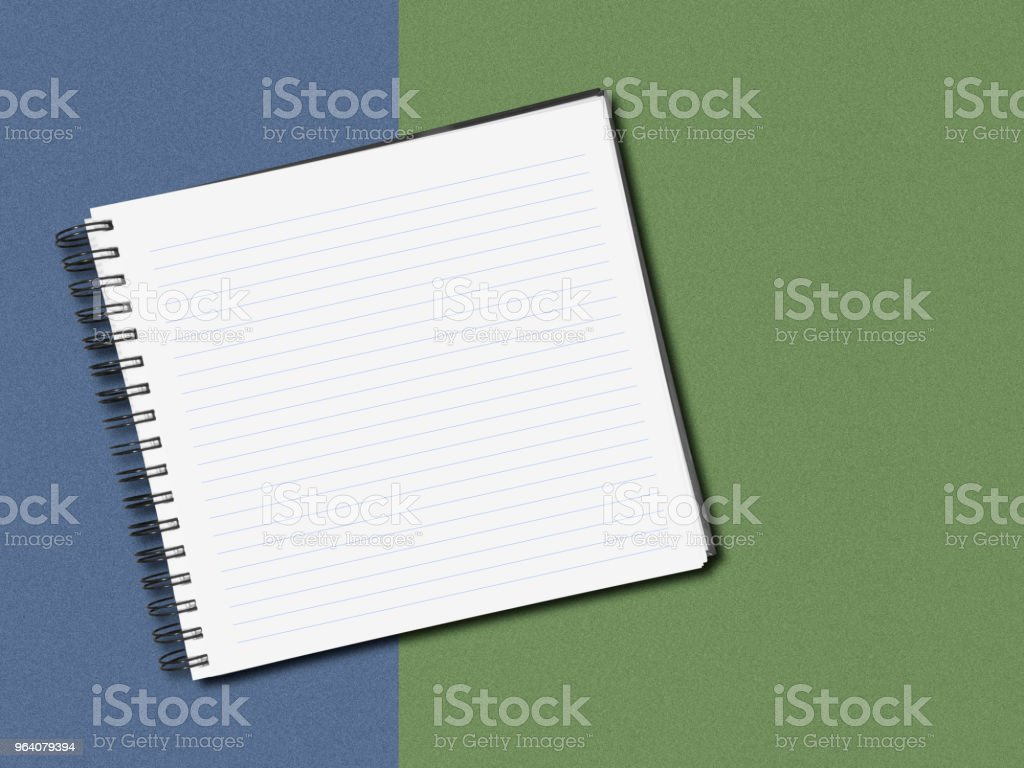 Notebook on the table - Royalty-free Brazil Stock Photo