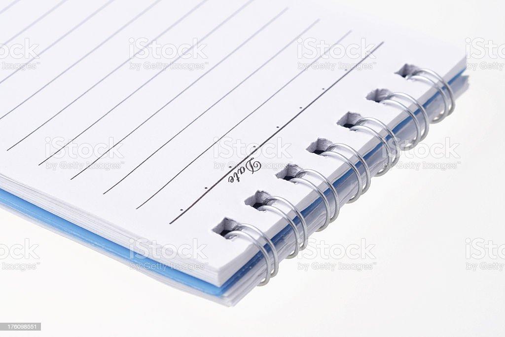 Notebook on white stock photo