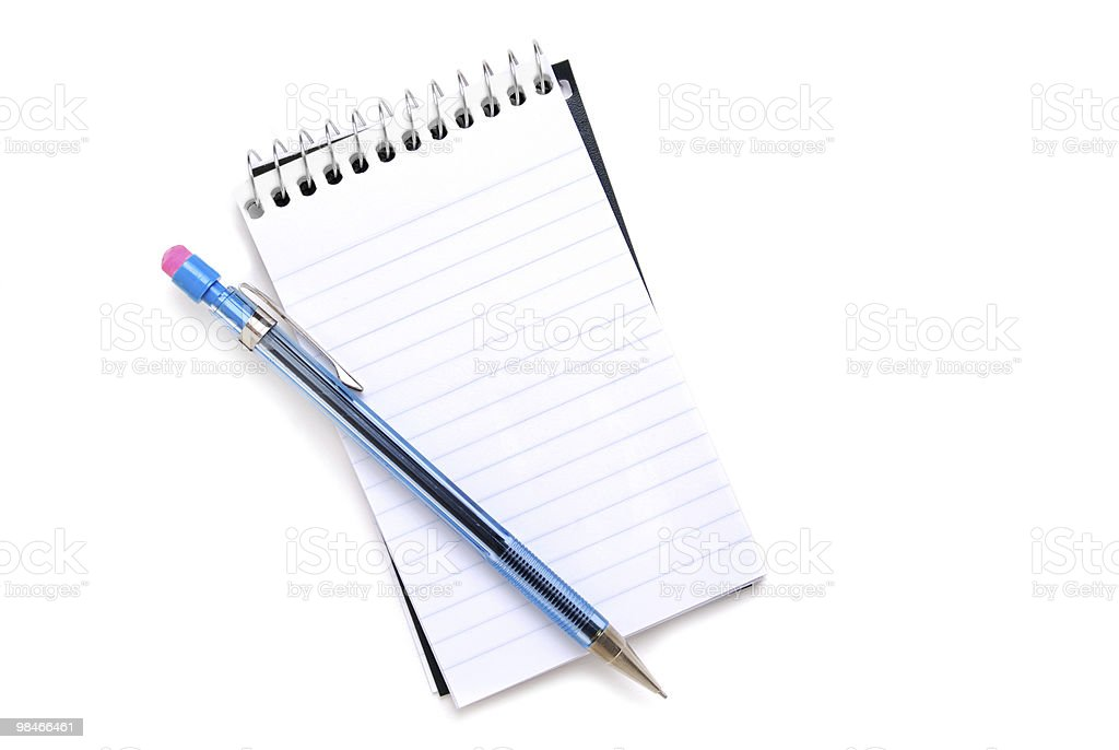 Notebook Page royalty-free stock photo