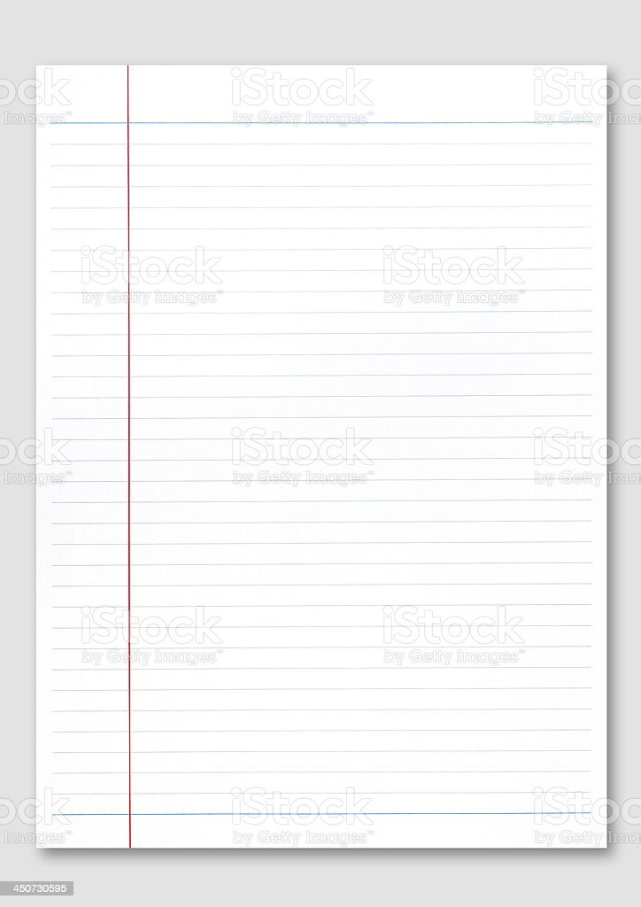 Notebook paper. royalty-free stock photo