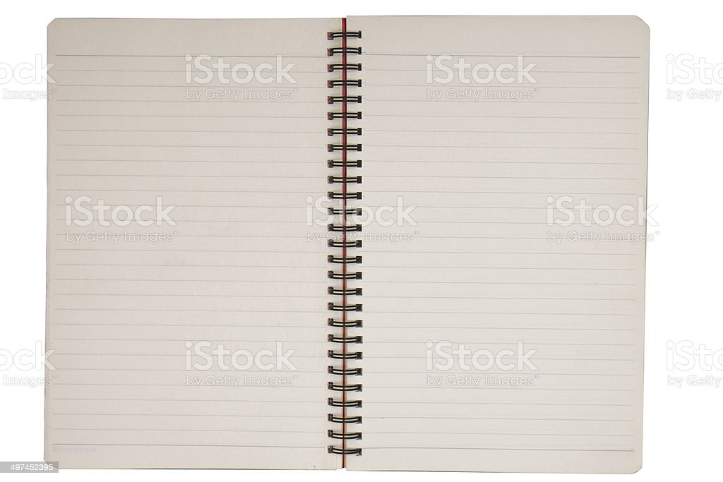 notebook paper sheet royalty-free stock photo