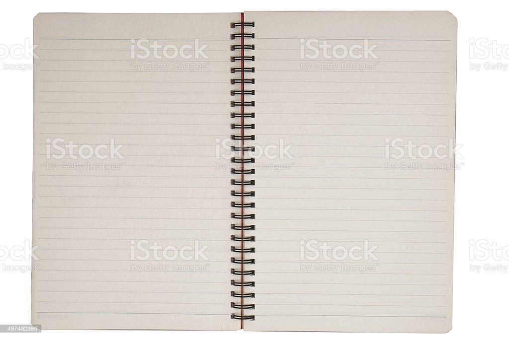 notebook paper sheet stock photo