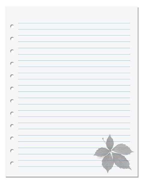 Notebook carta con Sfondo di foglia di Vite del Canada - foto stock