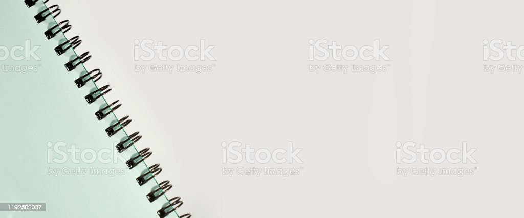 Notebook. Blank notebook background space for advertising text. Advertisement Stock Photo