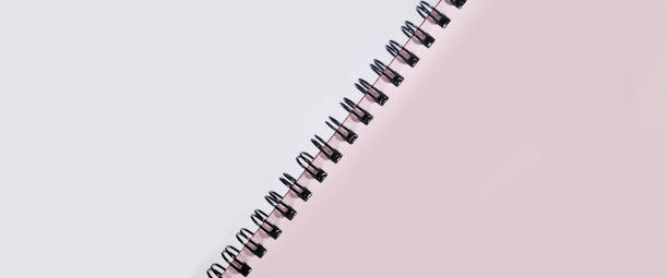 Notebook. Blank notebook background space for advertising text. apprise stock pictures, royalty-free photos & images