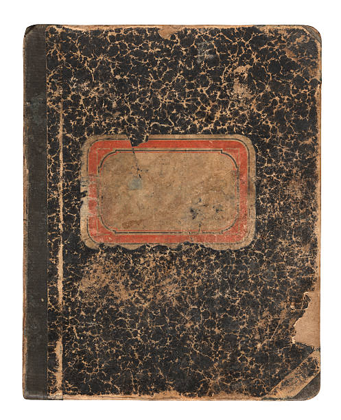 Notebook Very old notebook or cooking book (approx. 1900), isolated on white background, includes clipping path blotter stock pictures, royalty-free photos & images