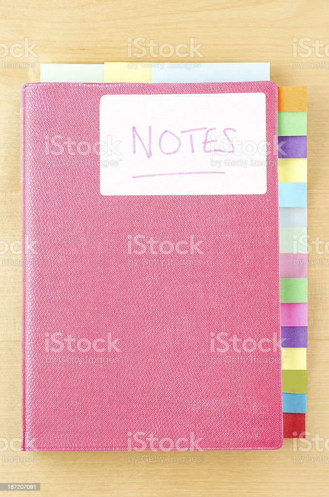 Notebook with Blank Tab Dividers stock photo