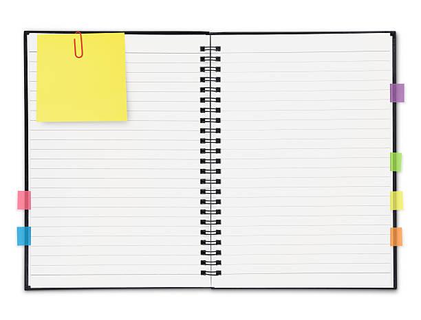 Ordinateur portable avec des notes (path - Photo
