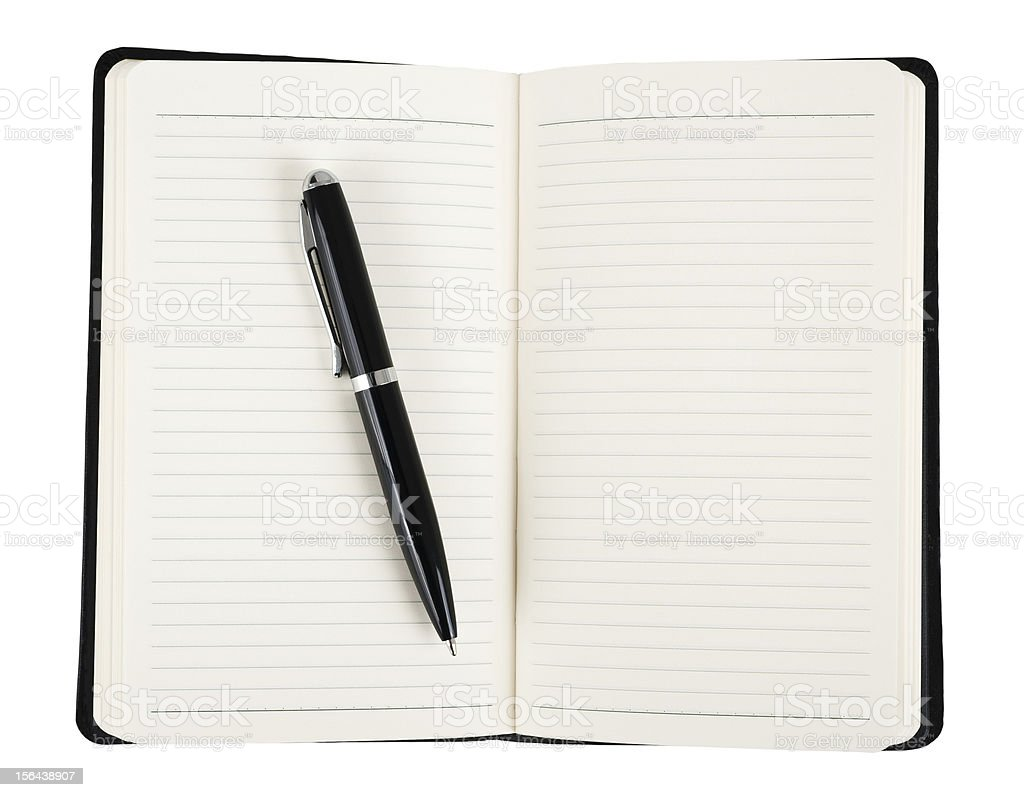 Notebook with pen royalty-free stock photo
