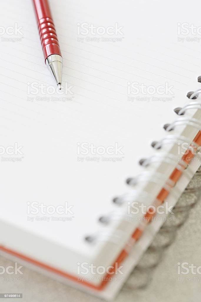 Notebook with pencil royalty-free stock photo