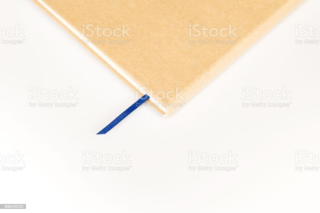 notebook (memo) with ribbon bookmark stock photo