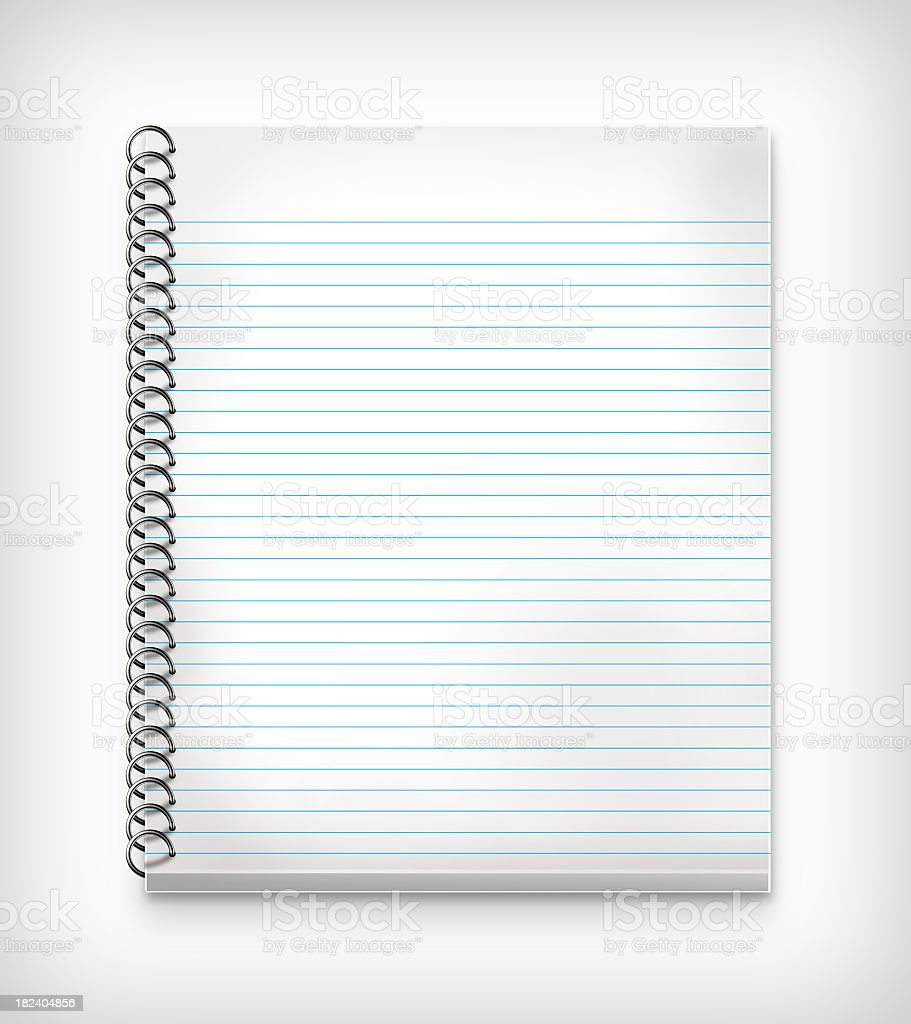Notebook with ruled paper royalty-free stock photo