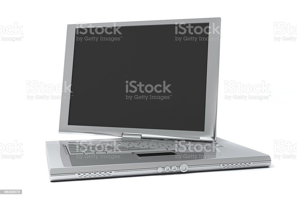 Notebook with screen rotated royalty-free stock photo