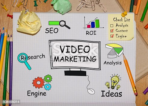 istock Notebook with Tools and Notes About Video Marketing 508465014