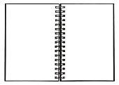 Notebook wspiral binder Open book white background