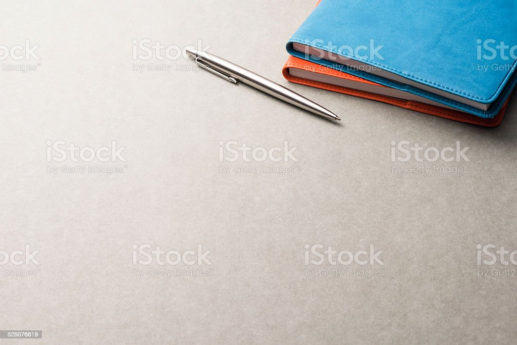 Notebooks and Ballpoint pen. stock photo