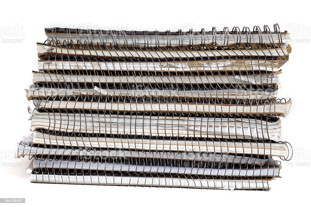 Notebooks royalty-free stock photo