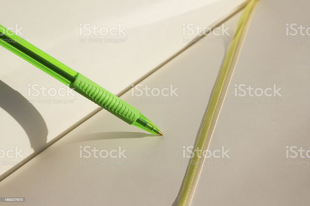 notebooks with a pen royalty-free stock photo