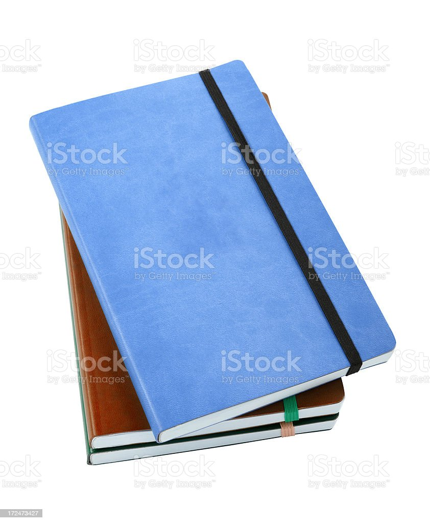 Notebooks+Clipping Path royalty-free stock photo