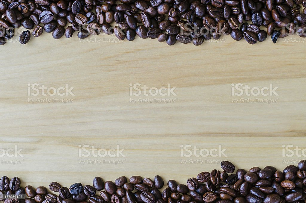 Note&coffee beans royalty-free stock photo