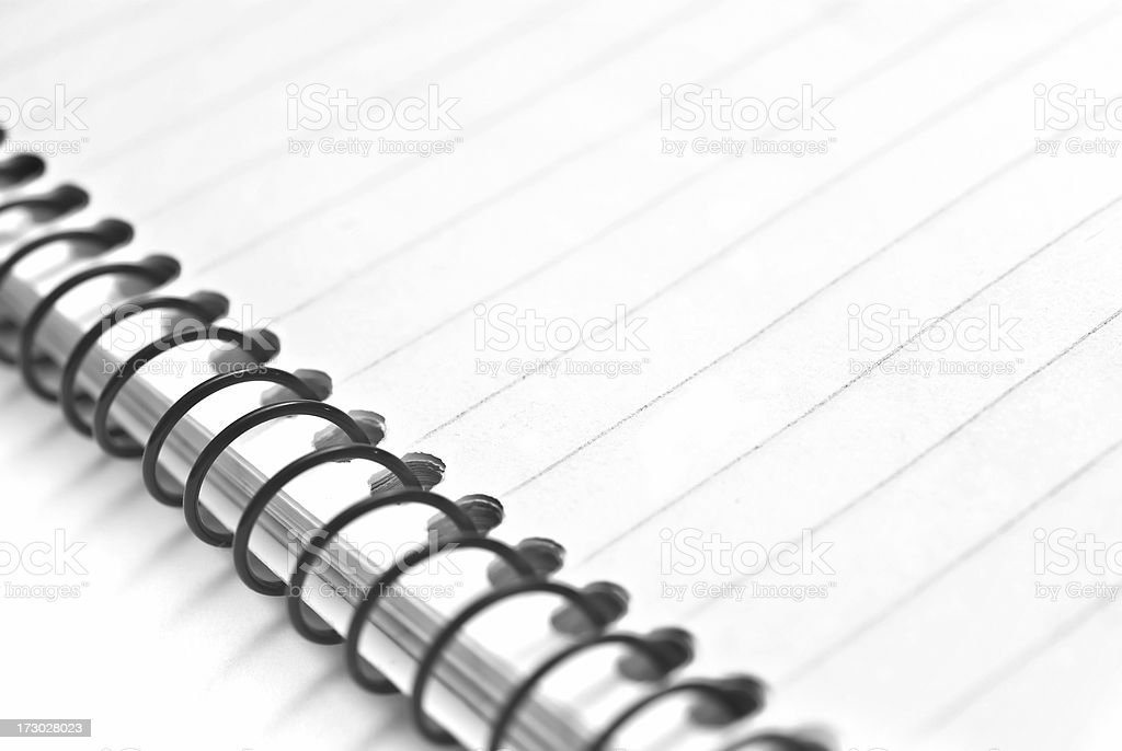 Notepad against a white background royalty-free stock photo