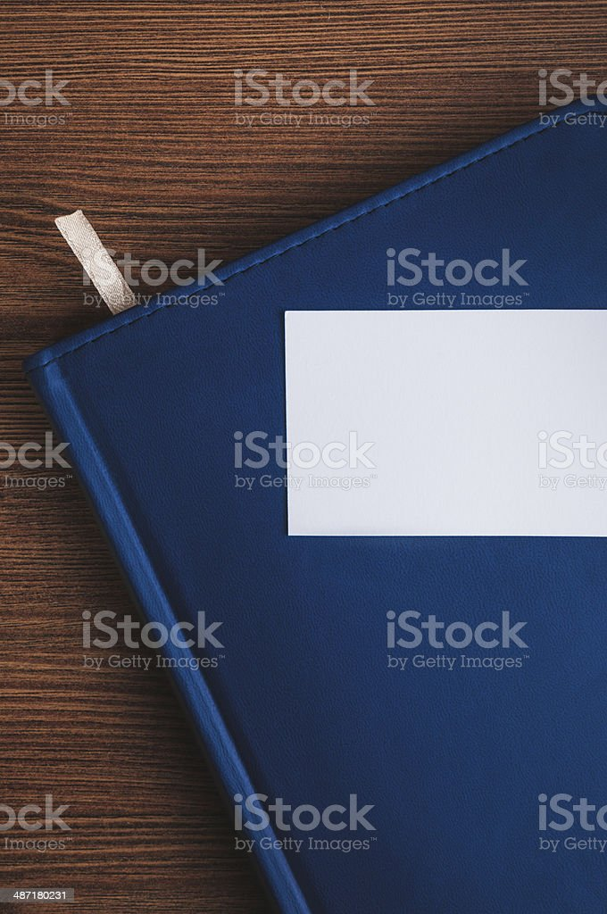 Notepad and calling card royalty-free stock photo