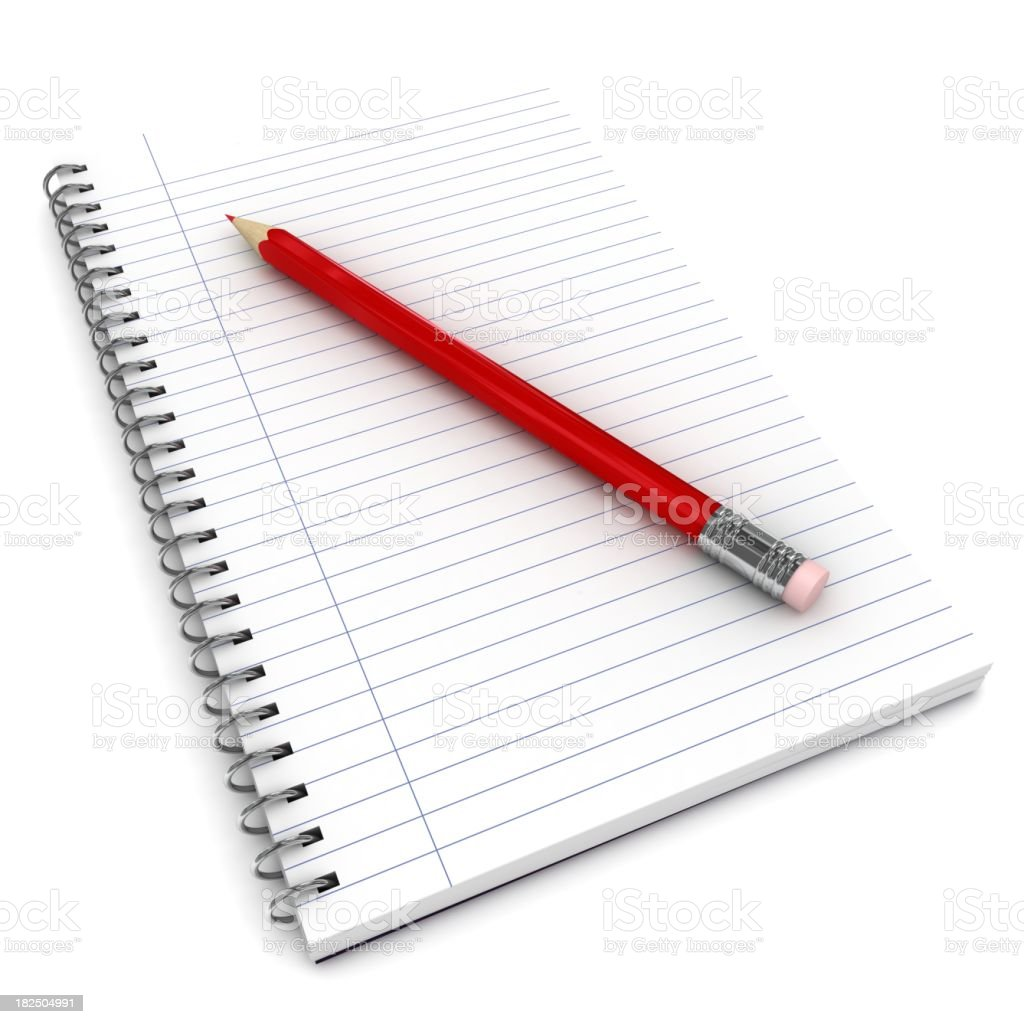 Notepad and Pencil royalty-free stock photo
