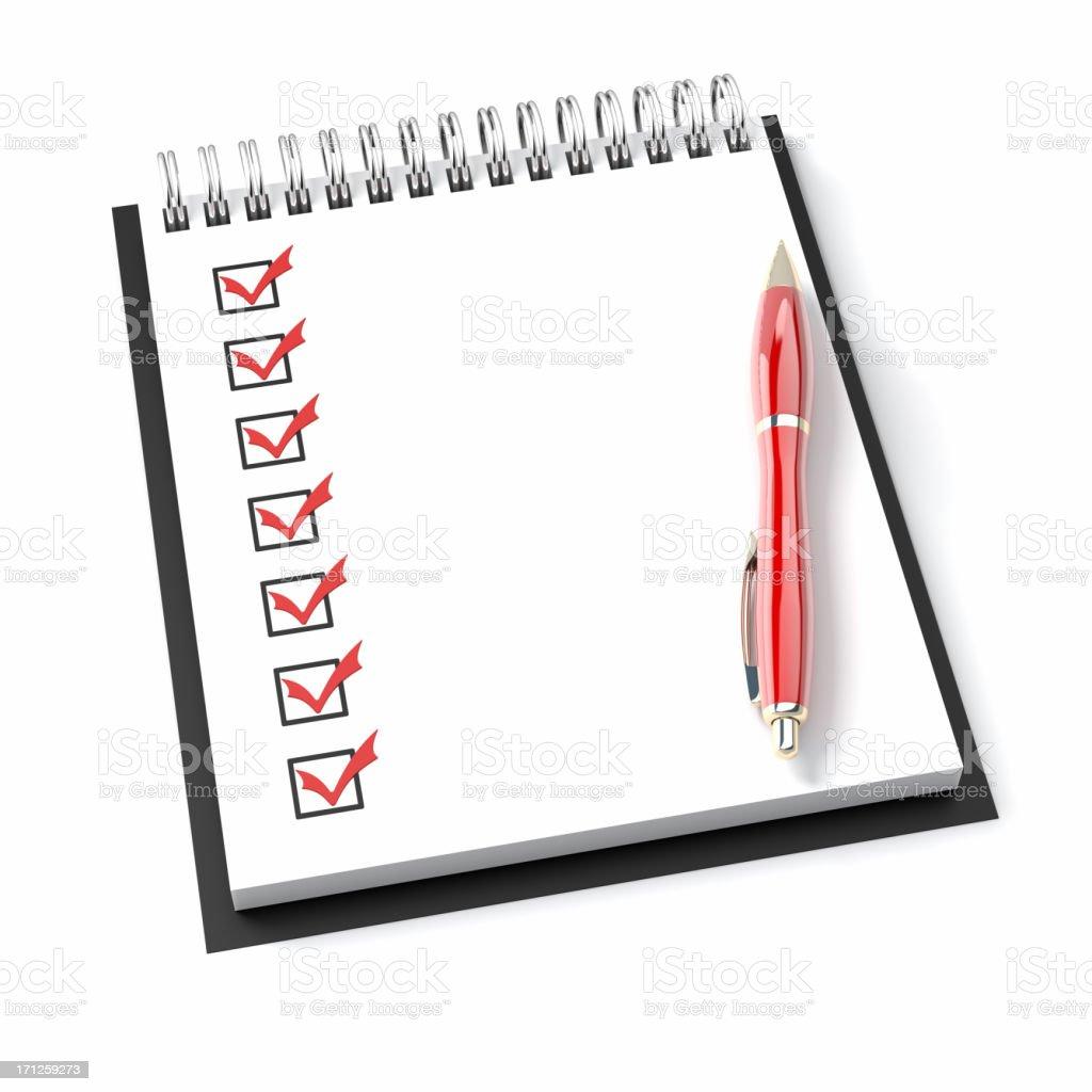 Notepad Checklist royalty-free stock photo