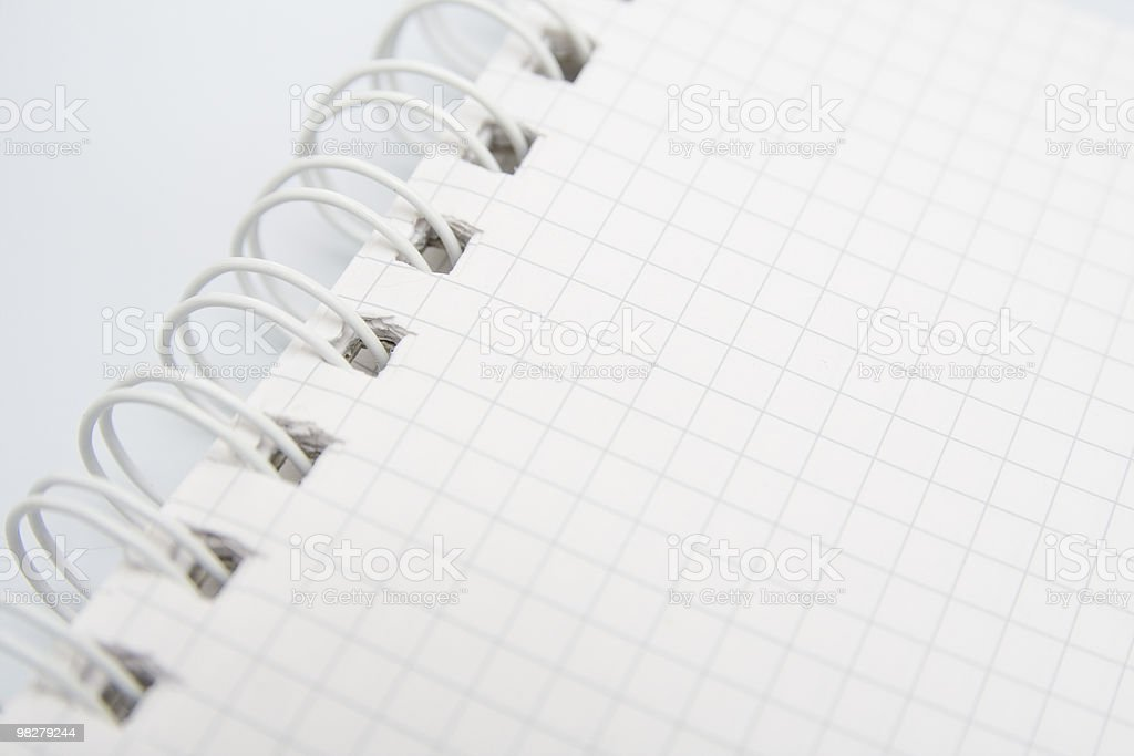 Notepad primo piano foto stock royalty-free