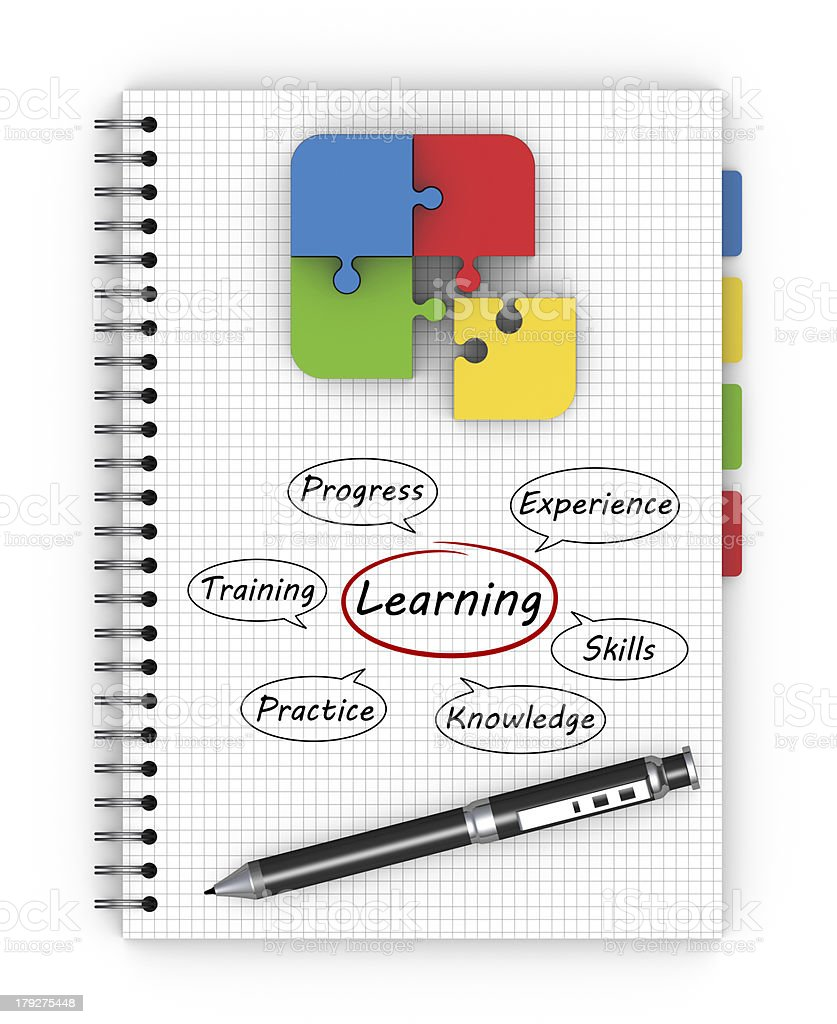 Notepad learning concept royalty-free stock photo