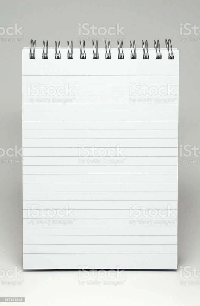 Notepad lined royalty-free stock photo