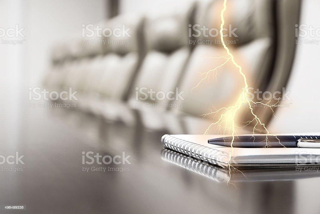 Notizblock auf einem Tisch - Lizenzfrei 2015 Stock-Foto