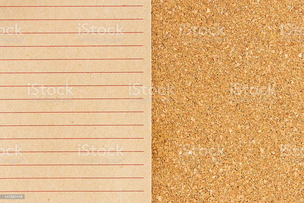 notepad on cork board royalty-free stock photo