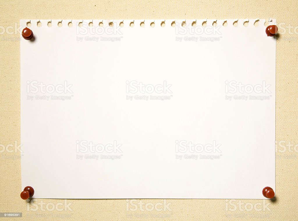 Notepad Page On Textile Background royalty-free stock photo