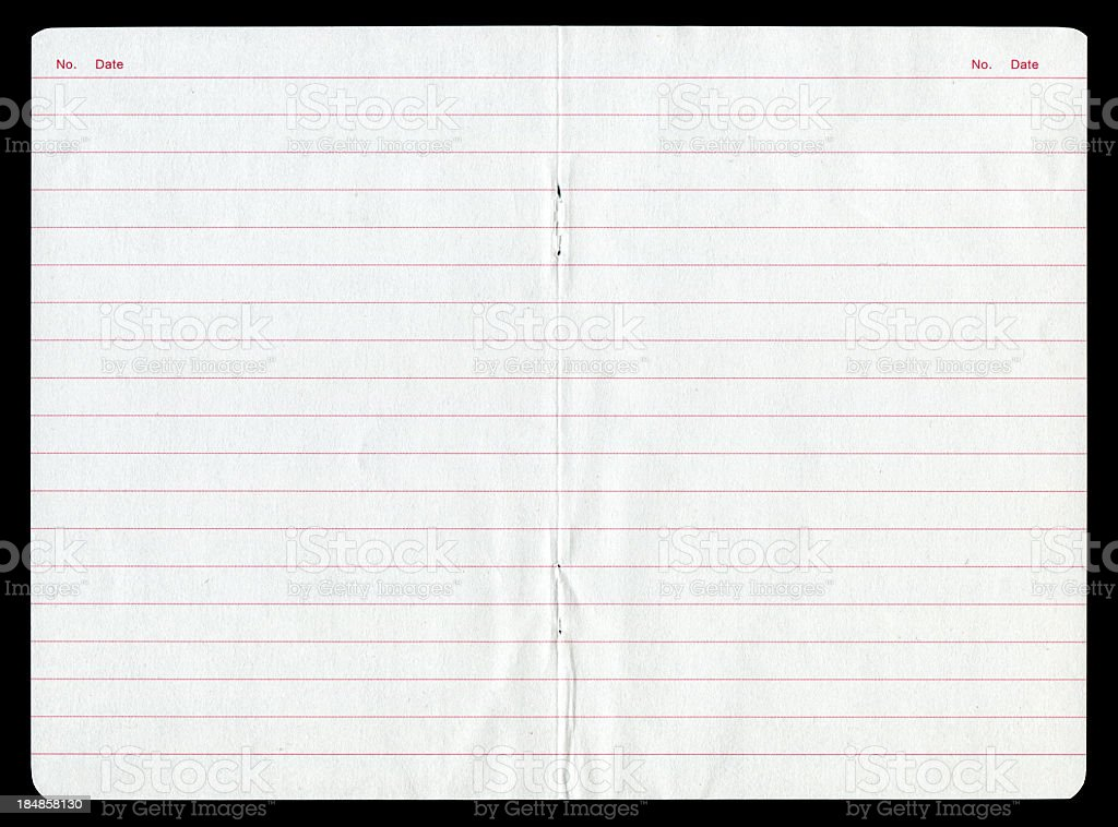Notepad page paper background textured royalty-free stock photo