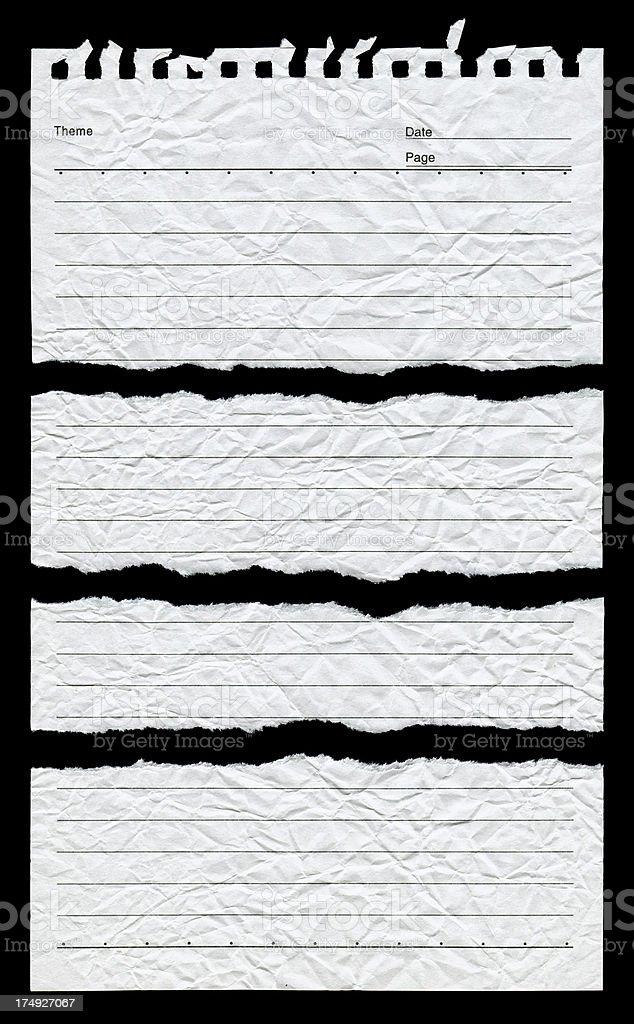 Sfondo nero notepad
