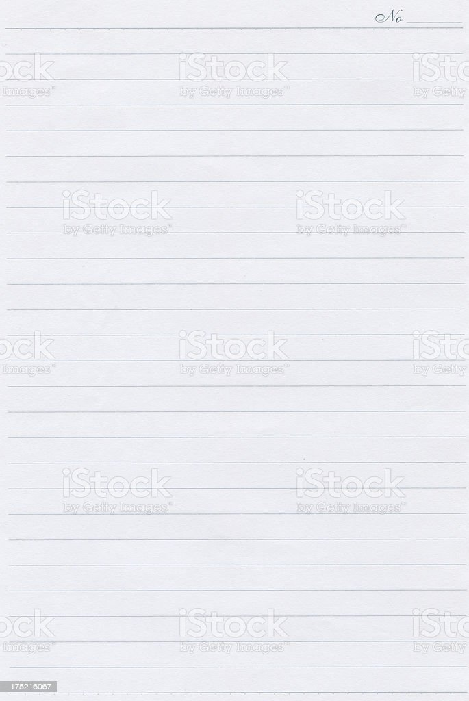 Notepad page royalty-free stock photo