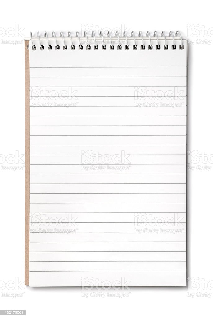 Notepad (CLIPPING PATH included) royalty-free stock photo