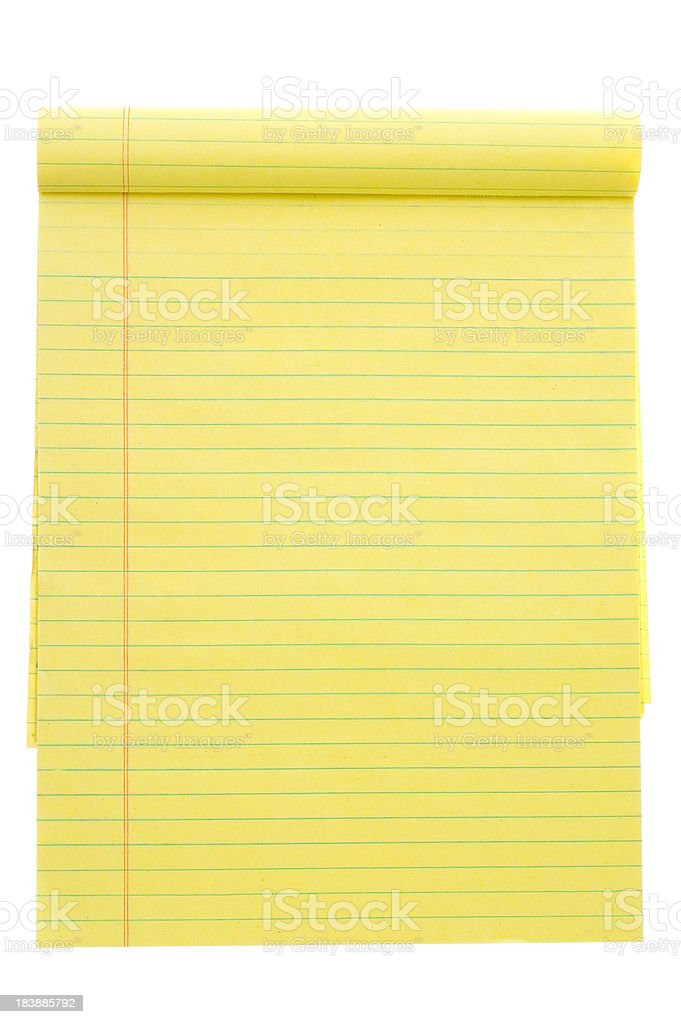 Notepad stock photo