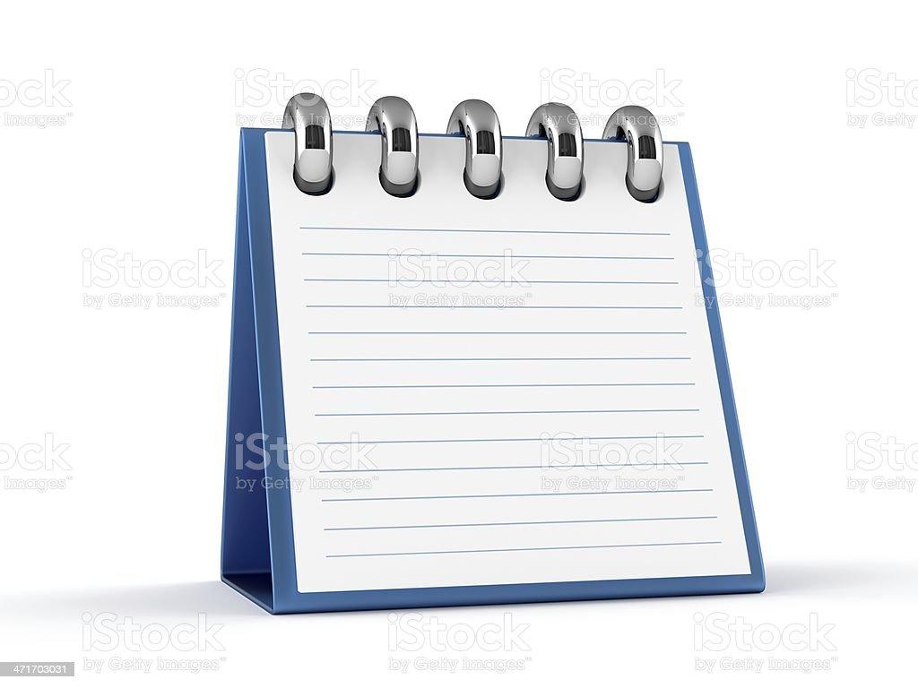 3D Notepad royalty-free stock photo