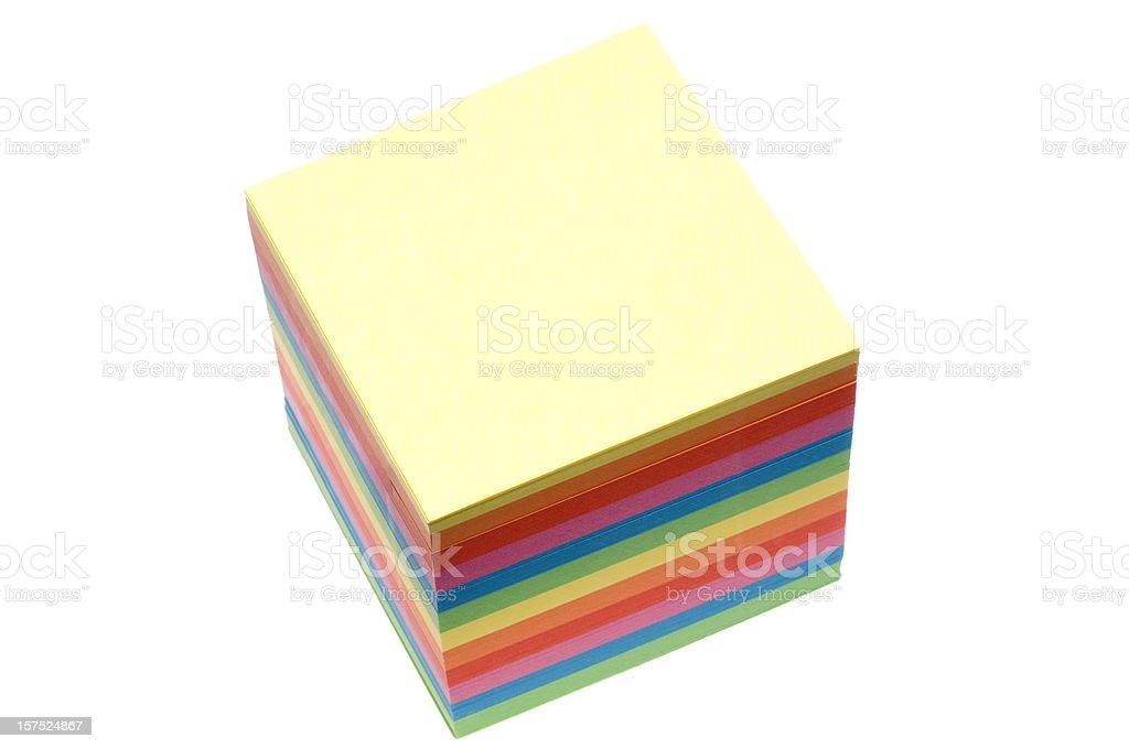 Notepad Postit isolated on white stock photo