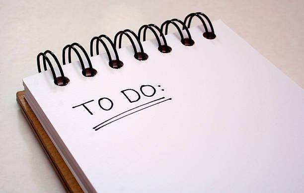 Um bloco de notas-Lista de tarefas - foto de acervo