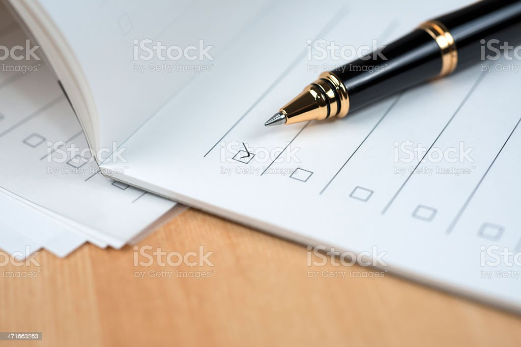 Notepad with Check List stock photo
