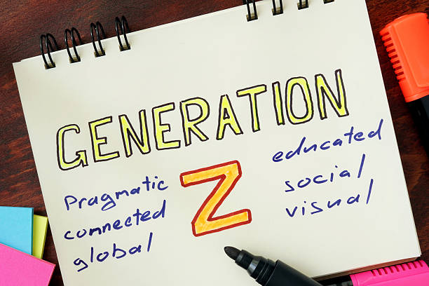Notepad with generation z on the wooden table. Notepad with generation z on the wooden table. generation z stock pictures, royalty-free photos & images