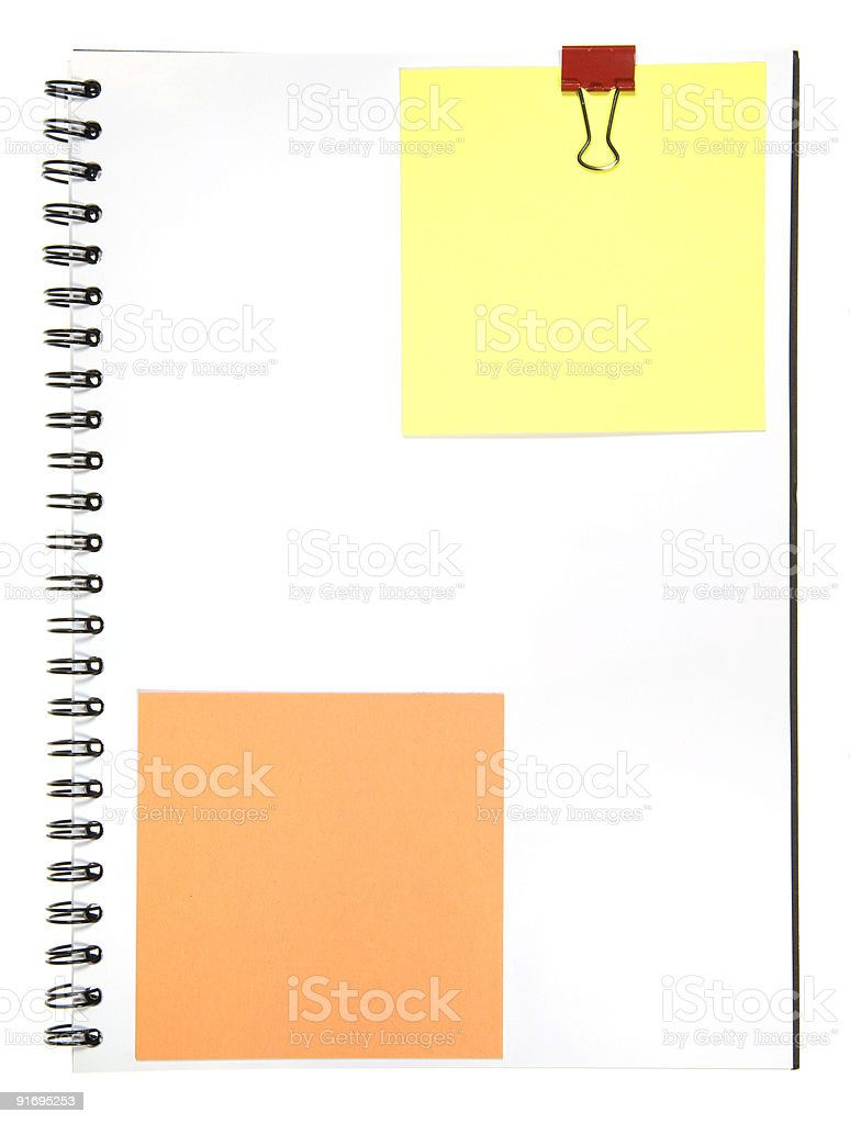 Notepad With Memo royalty-free stock photo