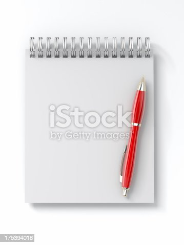istock Notepad with Pen 175394018
