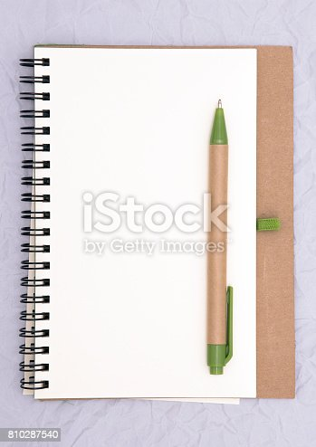 istock Notepad with Pen 810287540
