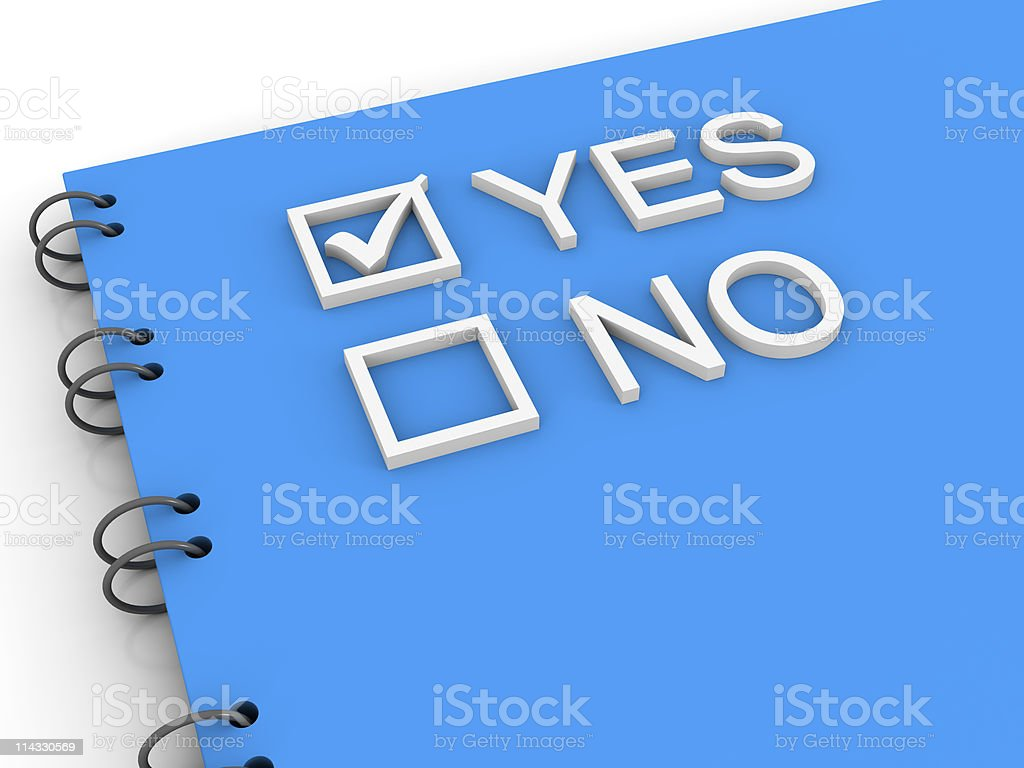 Notepad with Yes No Options royalty-free stock photo