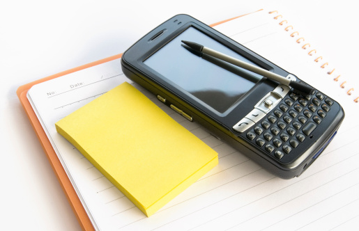 Notepadmemo And Pda Stock Photo - Download Image Now